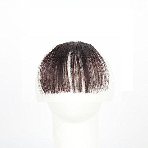 ESAILQ Hübsche Mädchen Clip On Clip In Front Hair Bang Fransen Haar Verlängerung Stück Thin Mini Luft Liu Hai Perücke (C) (Hippie Make Up Und Haare)