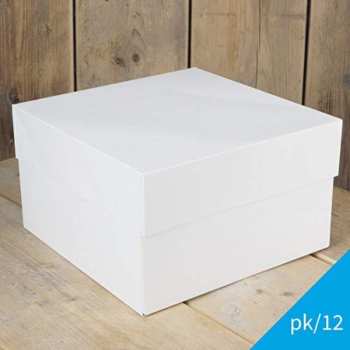 Guarda tu tarta casera más especial en esta caja para tartas de FunCakes. Esta caja de cartón firme tiene una tapa separada lo que te permite colocar la tarta en la caja fácilmente.