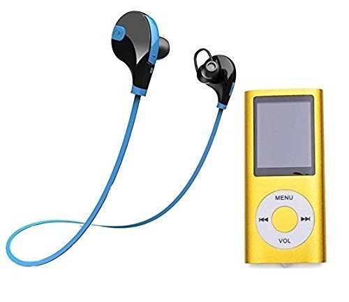 Raptas 2nd MP4 Player 1.8 inch LCD Screen With Sports Wireless Jogger Bluetooth Stereo Headset For Smart Phones