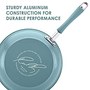 Rachael Ray 16344 Cucina Nonstick Cookware Pots and Pans Set, Aluminum, Agave Blue