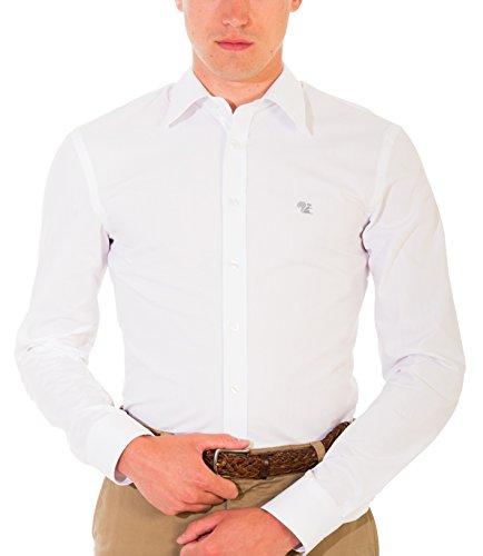 Bivolino -  Camicia Casual  - Uomo Bianco