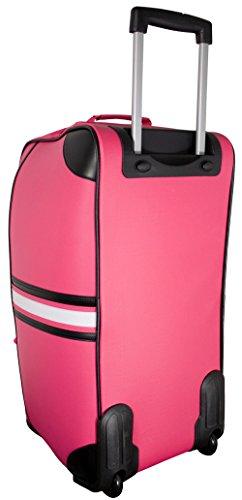 Trolleytasche Koffertrolley Sporttasche Reisetasche mit Trolleyfunktion aus Tarpaulin (ähnlich LKW-Plane) - Modell Amsterdam - Farbe Orange Pink