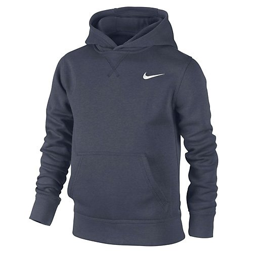 Nike Jungen Kapuzenpullover Brushed Fleece, obsidian/white, L, 619080-451