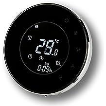 Termóstato programable, termómetro programable redondo elegante moderno del sitio de la pantalla táctil LCD de