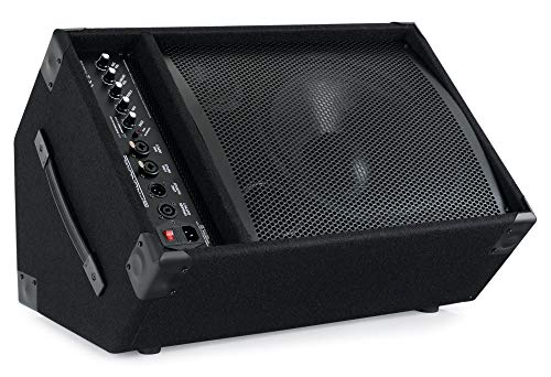 """Pronomic KAM-12BT Aktiver Bühnenmonitor - PA Monitor Lautsprecher mit Bluetooth- 120 Watt (RMS), 3-Band-Equalizer - 12\"""" Woofer - 3\"""" Hochtöner"""