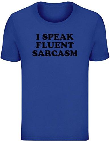 16844e5e I Speak Fluent Sarcasm T-Shirt For Men - 100% Soft Cotton - High Quality  DTG Printing - Custom Printed Mens Clothing Top ...