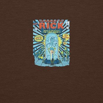 Planet Nerd - Incredible Tiny Rick - Herren T-Shirt Braun
