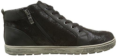 Caprice 25252, Sneakers Hautes Femme Noir (Black Comb 19)