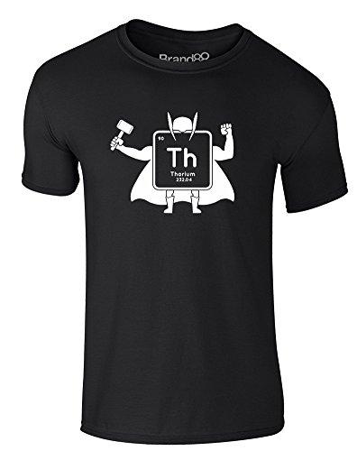 Brand88 - Thor-ium, Erwachsene Gedrucktes T-Shirt Schwarz/Weiß