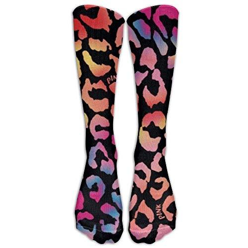 nnmaw Men&Women Cheetah Purple Leopard Crew Socks Warm Over Boots Stocking Trendy Long Socks 50cm