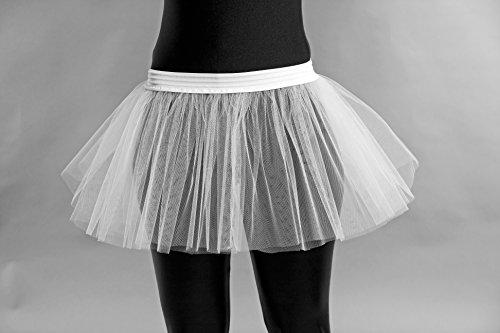 Burlesque Kostüm Ballerina - Tüllröckchen, weiß, Universalgröße