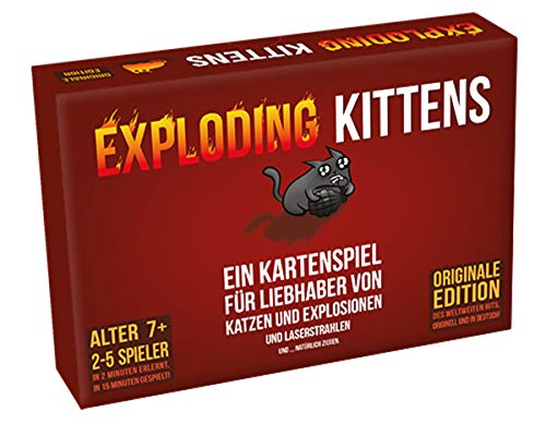 Exploding Kittens - Partyspiel - Kartenspiel | DEUTSCH