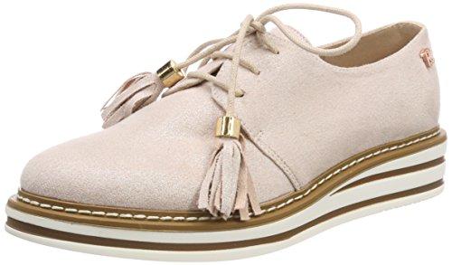 Refresh 64063, Zapatos de Cordones Oxford para Mujer, Rosa (Nude), 38 EU