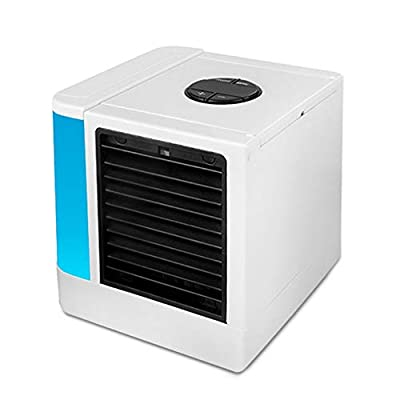 Air Cooler fan Portable Mini Personal Space Air Conditioner,humidifier & purifier with USB Port,Sterilization lamp,7 Colors LED for Room,Office