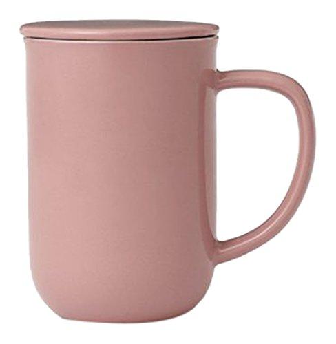Viva Scandinavia Minima équilibre Tasse à thé (0.5L), Porcelaine, Rose, 13.2 x 9 x 14.2 cm