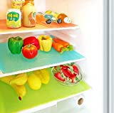 #7: Kuber IndustriesTM Refrigerator Drawer Mat / Fridge Mat Set of 6 Pcs (13*19 Inches) Multi Color (Material- Plastic)