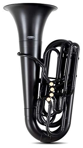 Classic Cantabile MardiBrass Kunststoff Bb-Tuba - 4 Monel-Ventile - nur 4,4 kg leicht - inkl. Mundstück und Leichtkoffer - schwarz matt