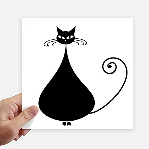 Katzen-Liebhaber Halloween-Tier-Kunst-Silhouette-Quadrat-Aufkleber 20Cm Wand Koffer Laptop Motobike Aufkleber 4Pcs 20cm x 20cm Mehrfarbig ()