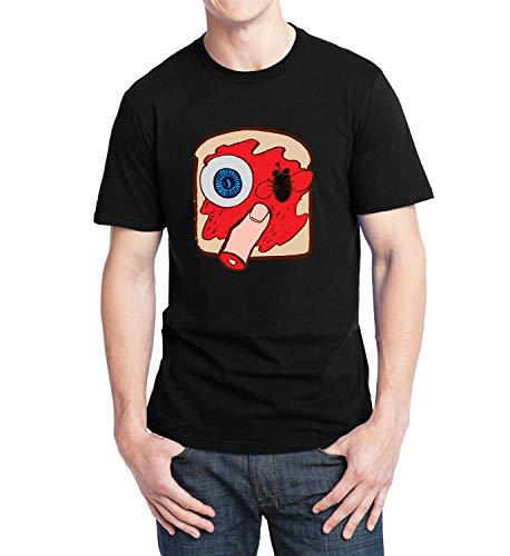 Halloween Creepy Sandwich Eye Finger_007325 T-Shirt Tshirt Man's Mens Gift Xmas LG T Shirt Black