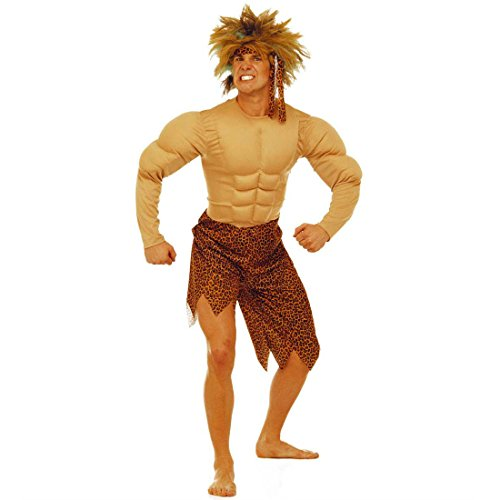 Tarzan Kostüm Dschungel Herrenkostüm L (52) Jungle Muskelkostüm Fasching Tarzankostüm Höhlenmensch Dschungelkostüm Faschingskostüm Steinzeit Karnevalskostüm Urmensch Neandertaler Wildnis Mottoparty Verkleidung Karneval Kostüme (Dschungel Kostüme Jane)
