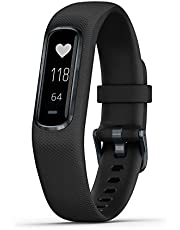 Garmin Rubber Vivosmart 4 Fitness Tracker (Black)