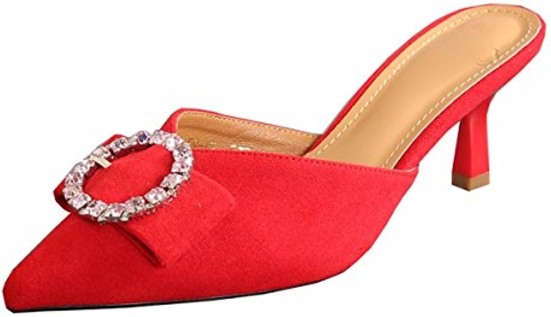 KPHY Zapatos de mujerEn Verano Puntas Afiladas 7Cm Tacones Altos Tacones De Arrastre Delgada Sexy Cool Fashion...