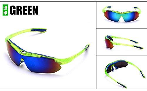 Yiph-Sunglass Sonnenbrillen Mode Arbeiten Sie Mens-Nachtsicht-Sonnenbrille-Männer Blendschutz-Metallrahmen-Schutzbrillen-Auto-Nachtfahrt um, die de-Conducción de los vidrios ist (Color : Green)