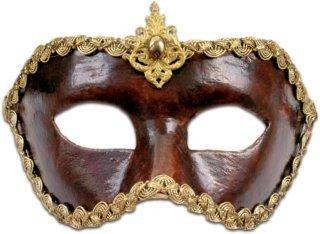 Karneval / Kostüm / Halloween Venezianische Maske - Colombina cuoio