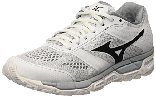 Mizuno Synchro Mx Wos, Scarpe da Corsa Donna, Bianco (White/Black/Quarry), 38 1/2 EU