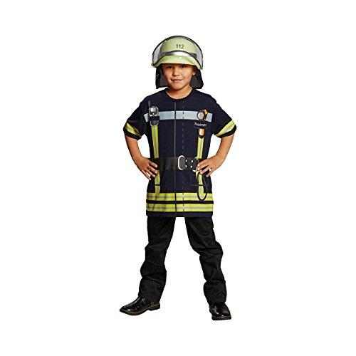 Generique - Feuerwehrmann-Spielshirt für Kinder blau-gelb 110/116 (5-6 -