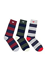 Red Tape Mens Solid Calf Socks (8903144182613_RSX 212_Multicoloured)