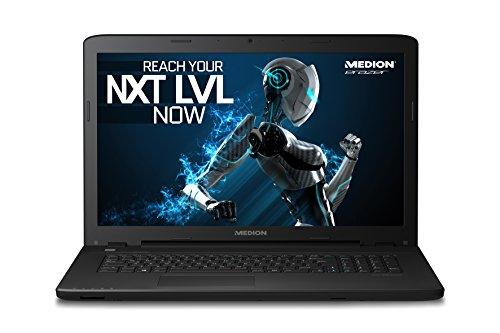 MEDION P7643 MD 99833 43,9 cm (17,3 Zoll) Notebook mit mattem Full HD Display (Intel Core i7 6500U Prozessor, 8GB RAM Arbeitsspeicher, 512GB SSD Festplatte, NVIDIA GeForce GTX 950M 4 GB VRAM, DVD RW Laufwerk, Windows 10 Home) schwarz