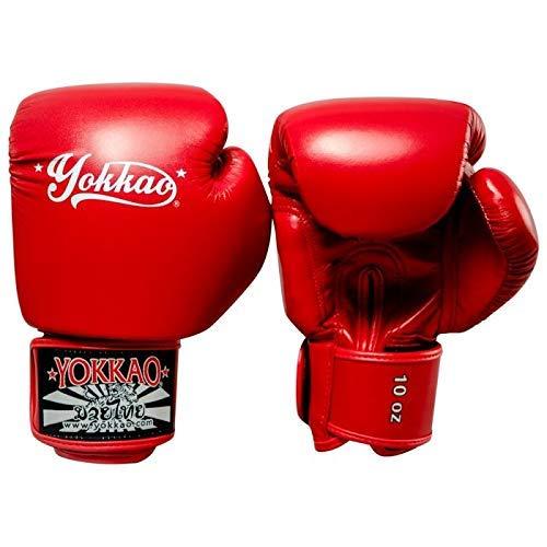 Yokkao Vertigo Boxe Gants Rouge Microfibre Muay Thai Kickboxing K1 Entraînement - Rouge, 16 oz - 473ml