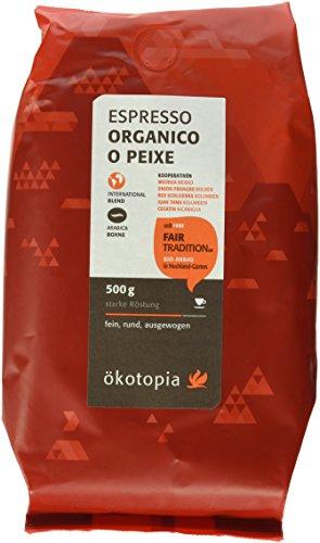 Ökotopia Espresso Organico O Peixe Bohne kontrolliert biologischem Anbau, 1er Pack (1 x 500 g)