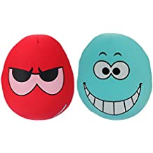 Tootpado Extremely Soft Micro Beads Hug While You Sleep Pillows Decorative Cushion for Kids Emoji 36cm - Pack of 2 (CHNK14)