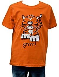 Kids 'Tiger' orange T.shirt