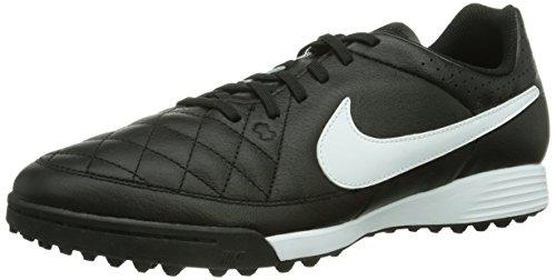 Nike Tiempo Genio Leather TF, Herren Fußballschuhe, Schwarz (Black/White 010), 45.5 EU