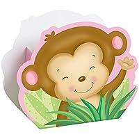 Ragazza Scimmia Baby Shower Partito Scatole, confezione da 8