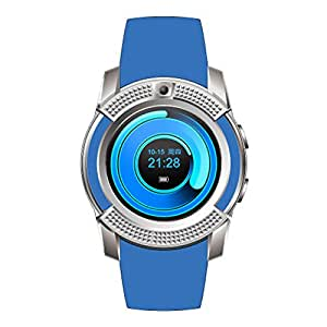iBall Andi 4D i+ Compatible Bluetooth Smartwatch With Sim & Tf Card Support With Apps Like Facebook And Whatsapp Touch Screen Multilanguage Android/Ios Mobile Phone Wrist Watch Phone With Activity Trackers And Fitness Band Supported Devices -BY MOBIMINT