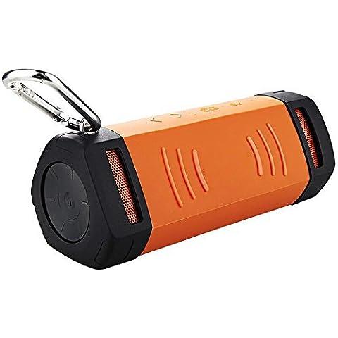 Eximtrade Bici Bicicleta Bluetooth Wireless Inalámbrico Altavoz Música MP3 TF Tarjetas Manos Libres Micrófono Llamadas Telefónicas Impermeable A Prueba de Polvo (Naranja)