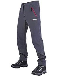 Berghaus Herren Patera Walking Wandern Softshell Schoeller® -dryskin Hose (dunkelgrau) & Little Hotties Handwärmer (ein Paar)