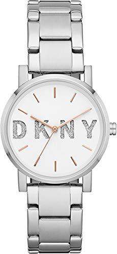 DKNY Orologio Analogico Quarzo Donna con Cinturino in Acciaio Inox NY2681