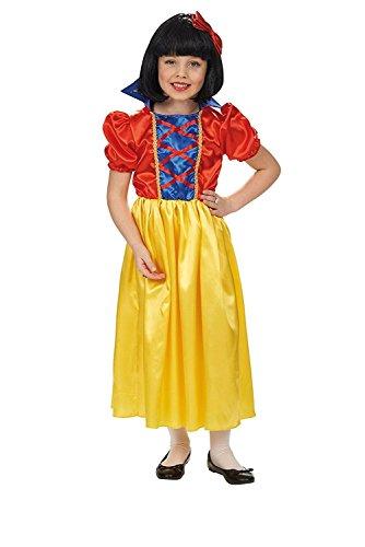 Schneewittchen Kleid Märchen Kinder Kostüm rot blau gelb - ()