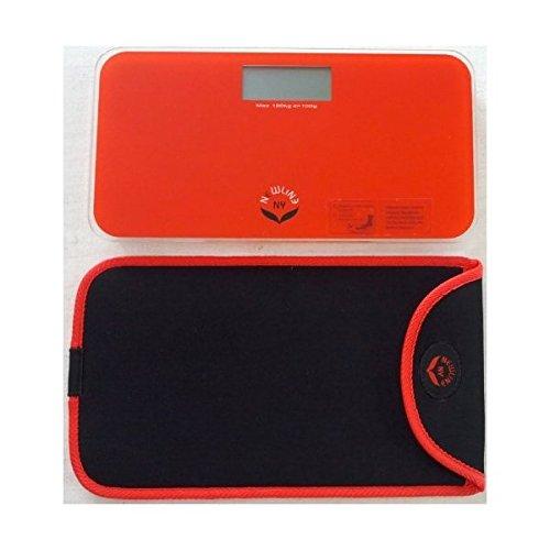 """la escala mini rojo naranja newlineny baño viajes es un nuevo diseño que ofrece un peso ligero y aspecto fresco. newlineny """"cuidado diseño"""" incluido el caso elegante y suave deslizamiento de protección para este modelo de color rojo anaranjado. que e..."""