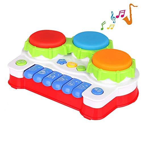 TINOTEEN Baby Spielzeug für Kleinkind und Baby Klavier und Trommel Musik Spielzeuge