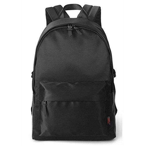 Männer Schulter Student Bag Personalisierte Street Fashion Rucksack Laptop Tasche Daypack,Black Black