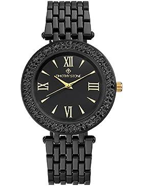 Timothy Stone Damen-Armbanduhr BURST BICOLOR Analog Quarz edelstahl-armband Farbe Schwarz damenuhr Entwurf
