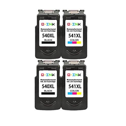 QINK Rigenerata per Canon PG-540XL CL-541XL Colore Nero Cartuccia Di Inchiostro Ad Alta Capacità Ad Alta Resa per Pixma MG2100 MG2200 MG3100 MG3200 MG3550 MG4150 MX390 MX475 MX525 stampante 2BK+2C