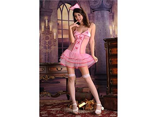 d Cosplay Sexy Uniform Krankenschwester Rolle Spielen Anzug Krankenschwester Kostüm Nachtwäsche Spiel tragen Erotische Dessous Set_ (Pink) ()