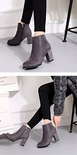 FLYRCX Ladies' tacco e tacco stivali in autunno e inverno A